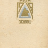 Coldwater High School Yearbook, 1919