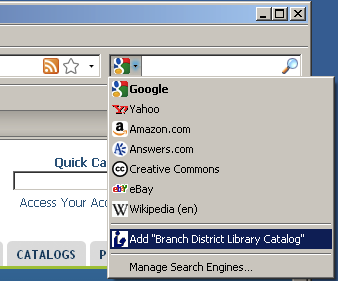 Image: Adding in Firefox
